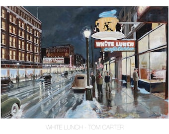 White Lunch by Tom Carter | Vancouver | Cafe |  Street Car | Cafeteria | British Columbia | Canada | Vintage