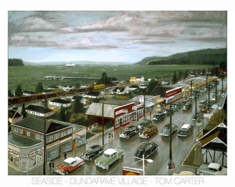 Seaside - Dundarave Village by Tom Carter | West Vancouver | Street Car | British Columbia | Canada | Vintage | Dundarave | Marine Drive