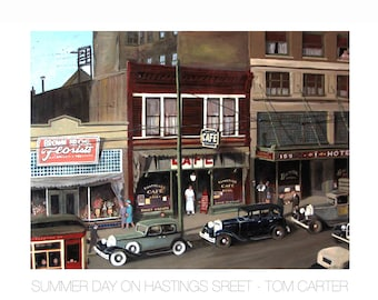 Summer Day on Hastings by Tom Carter | Vancouver | Cafe | Balmoral Hotel | Street Car | BCER| British Columbia | Canada | Vintage