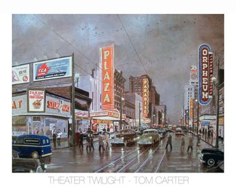 Theater Twilight by Tom Carter | Theatre | Granville Street | Orpheum | Commodore | Capitol | Paradise | Vancouver | Noir | Vintage | Hotel
