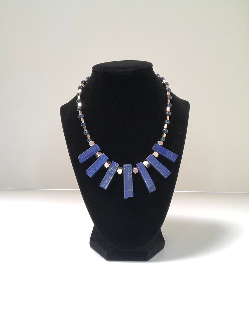 Lapis and Freshwater Pearl necklace 18