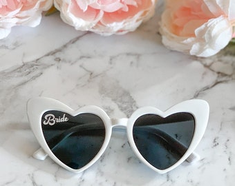 Bride Sunglasses Bride Heart Sunglasses Babe Sunglasses Bachelorette Party Sunglasses Beach Bride Honeymoon Bridal Shower Gift