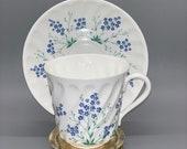 Lomonosov coffee teacup with saucer