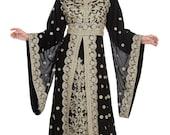 SALE Royal Islamic Modern Elegant Dubai Moroccan Caftan Arabic party wear Beach kaftan Farasha Maxi Floor Length Dresses Takshita Var