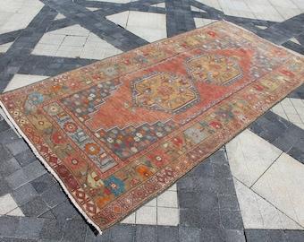 Vintage Turkish Rug • 4x8 Area Rug • 8.3x4.1 Feet Rug • Oriental Rug 4x8 • Antique Rug • Bedroom Rug • Livingroom Rug 4x8 • Kitchen Rug 4x8