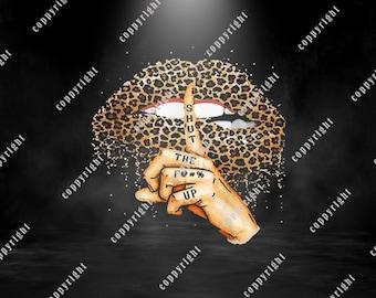 shirt designs Sassy lips svg Shirt designs SVG digital download Shut the fuck up Leopard lips svg Leopard print Shut the F!@# up SVG