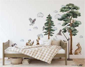 Wild Like the Forest Wreath Wall Decal  Wall Decal for Girls Room  Woodland Decal  Nursery Decal  Boho Style  Woodland Nursery