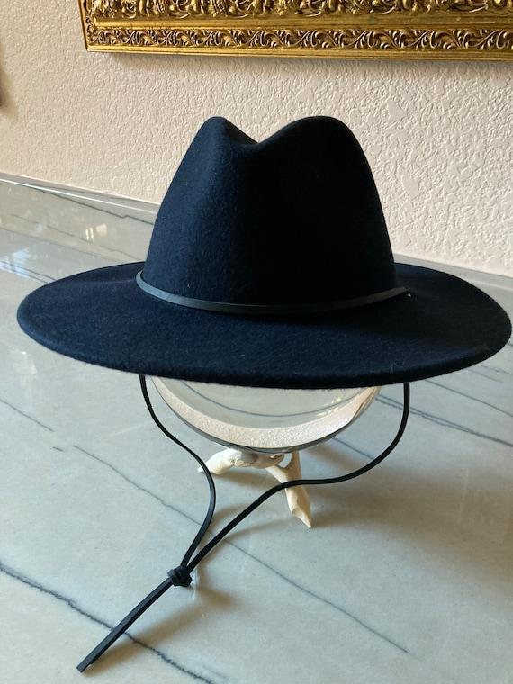 Wool Fedora Wide Brim Hat