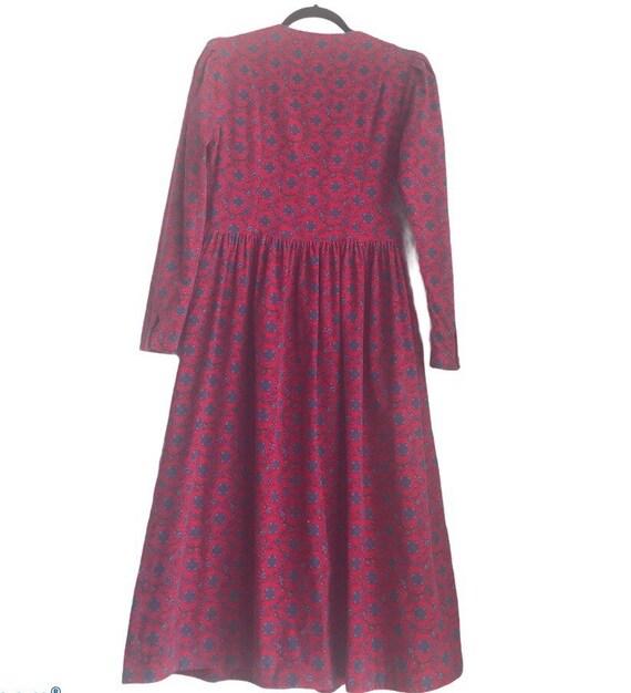 Vintage Laura Ashley Red Floral Cottagecore dress - image 2