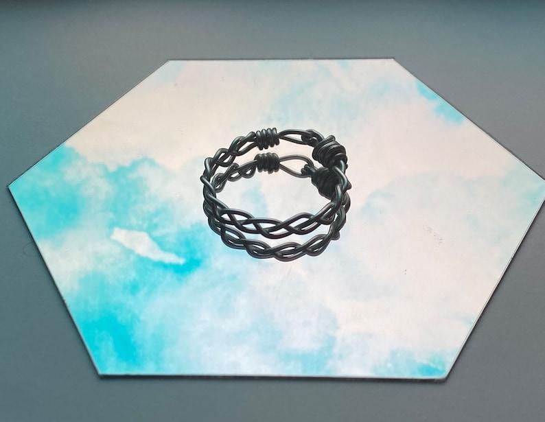 Braid ring goldsilver
