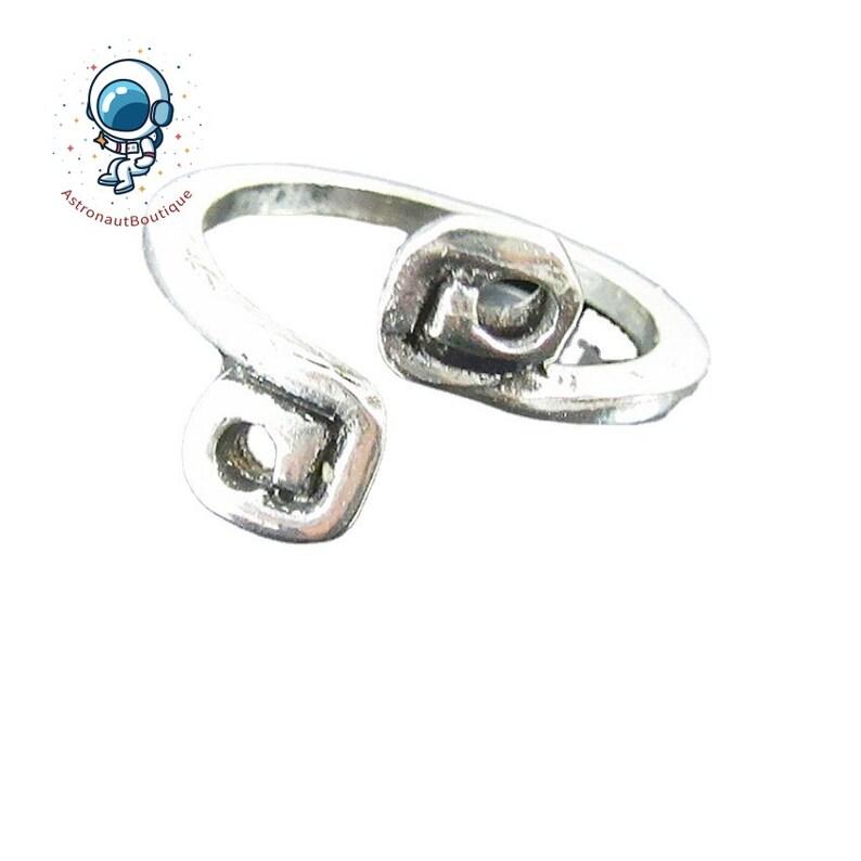 Toe Ring / thin toe ring /silver adjustable toe ring image 0