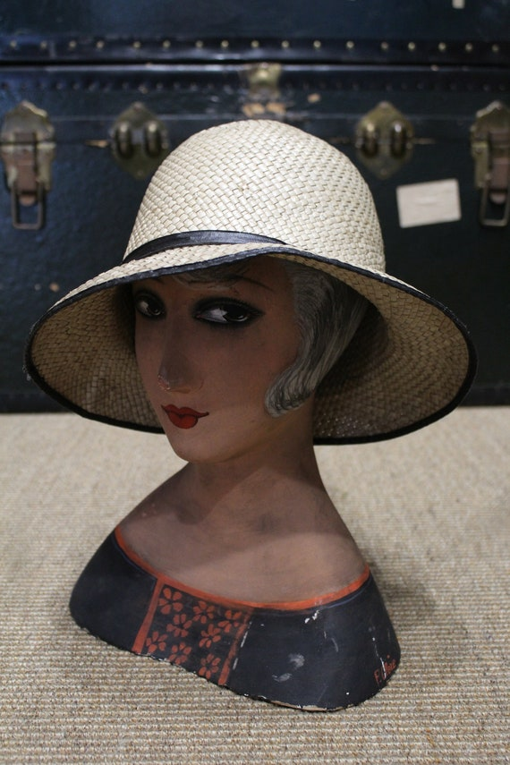 1940's straw hat / Straw Hat 1940