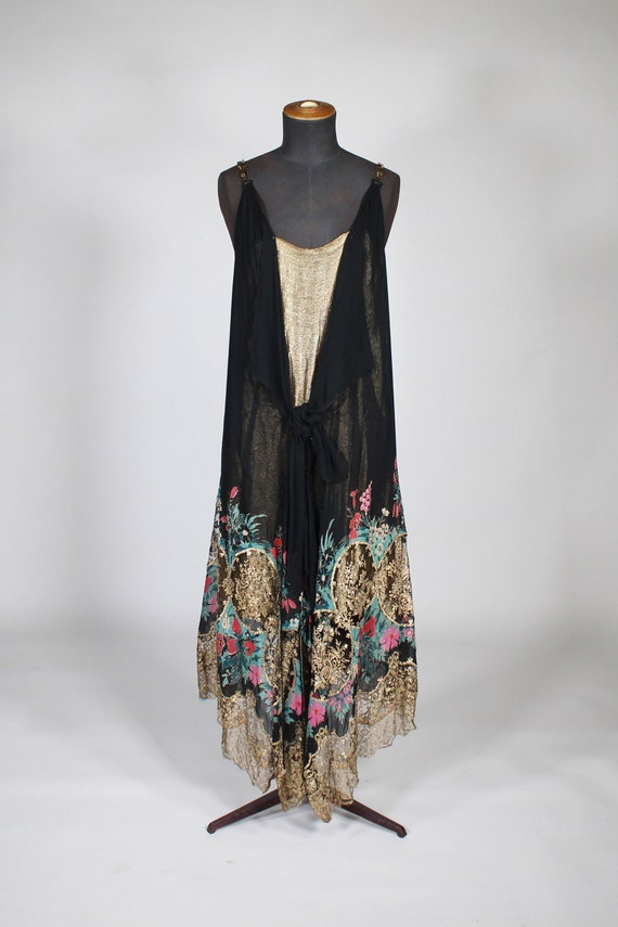 1920's silk evening dress