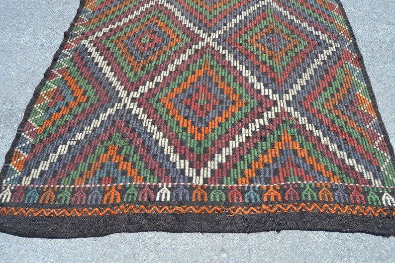 turkish rug 5.9x10.3 ft area rug oushak rug oriental vintage rug vintage decor home decor handmade rug decor carpet rugs boho rug anatolian