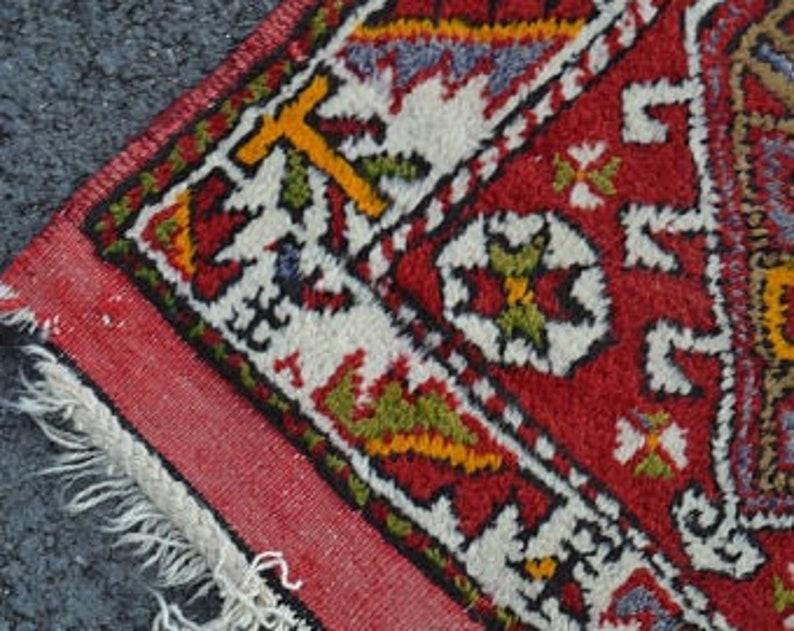 turkish rug 2.4x3.9 ft kilim rug oushak rug oriental vintage rug vintage decor home decor handmade rug decor carpet rugs anatolian rug boho