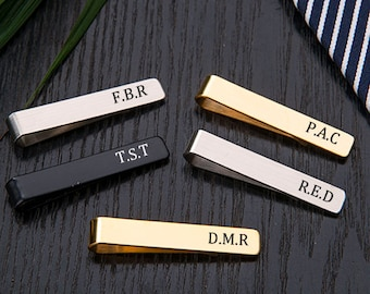 Personalized Men/'s tie clip gift to son custom tie clip tie bar Gift for boyfriend gift for husband Gift for him Valentine/'s Day gift