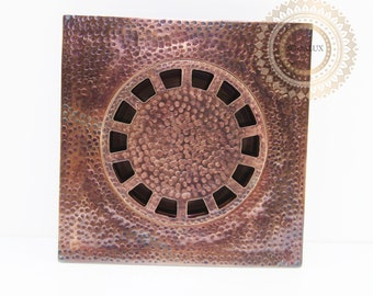 Antique copper Floor Drain Shower for Bathroom Washroom with Strainer Filter Drainage Clean