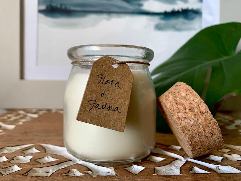 Geranium Lemongrass Soy Wax Candles with Essential Oils Lemon