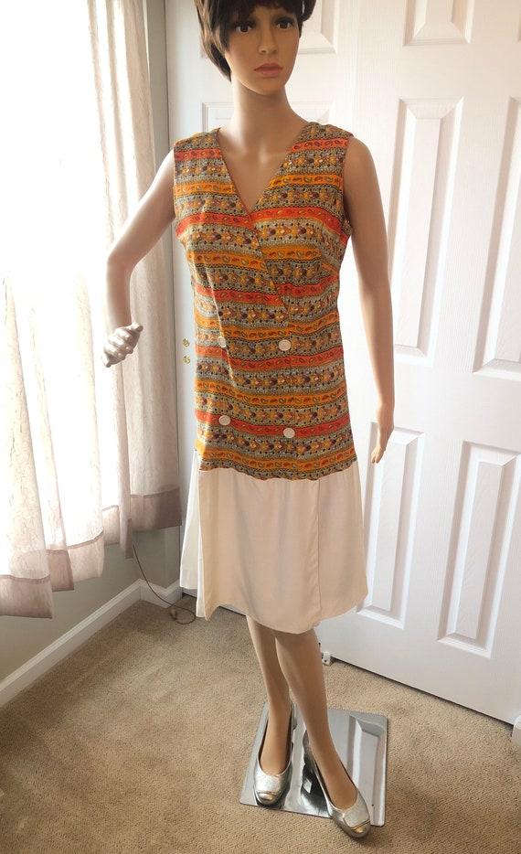 1960s culotte dress