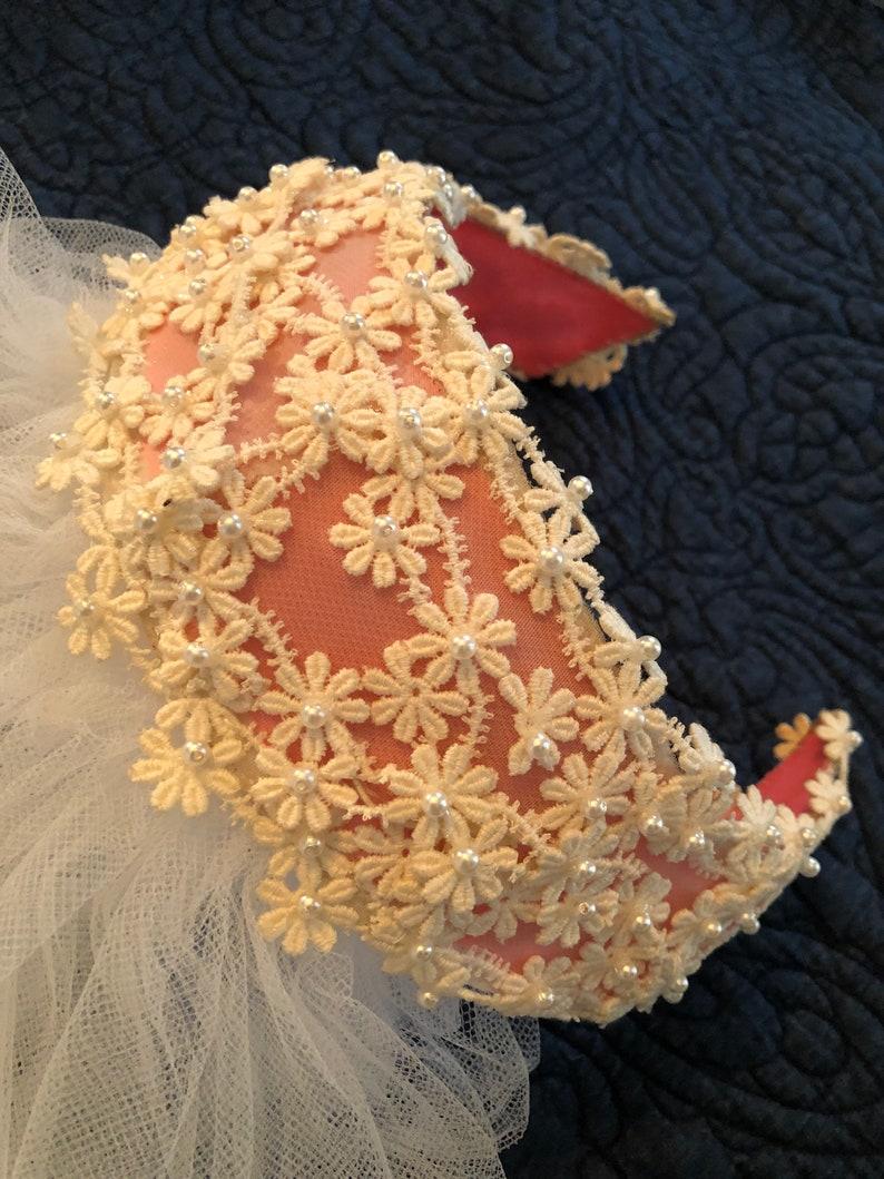 Pink 1960s Bridal Veil