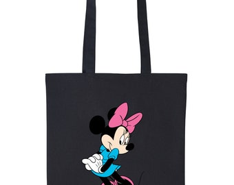 DISNEY Tinkerbell inspired shopping beach travel tote in turquoise and white