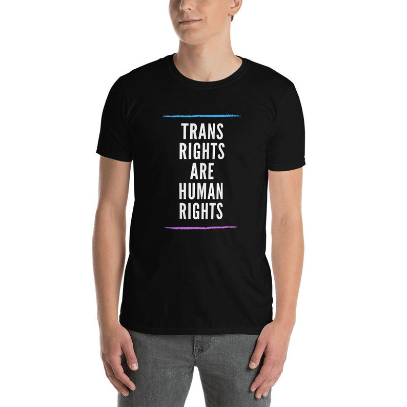 Trans Rights Are Human Rights Short-Sleeve Unisex T-Shirt image 0