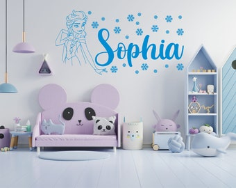 Frozen Wall Decal Etsy