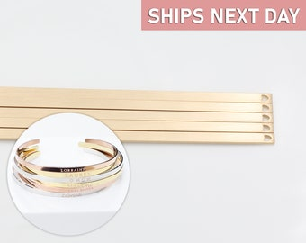 15mm and  10mm Blanks Gold  Bracelet Blanks Cuff Blanks Adjustable Bracelet Blank Gold Plated Brass G12762