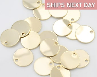 Tiny Pink Cubic Coin Medallions Pendant Textured Gold Disc Coin Charm 1PCS Dainty Coin Supply  SP282PK Wrinkled Disc