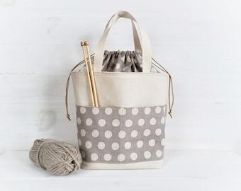 Marta Drawstring Bag Pattern, two sizes, sewing pattern, pdf pattern, project bag, organize, instant download, diy, knitting bag.