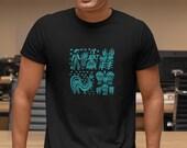 Vintage Pyrex Pattern - Butterprint Turquoise Blue Classic T-Shirt Womens T-Shirt Casual Top Graphic Tee Short Sleeve Shirt Sign Language T
