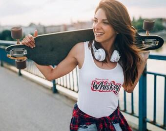 Blame it on the Whiskey - White Racerback Tank