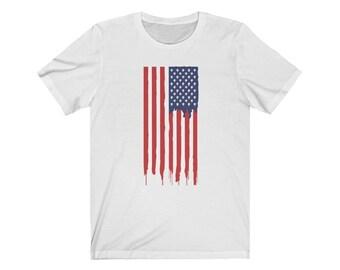American Flag Unisex Jersey Short Sleeve Tee