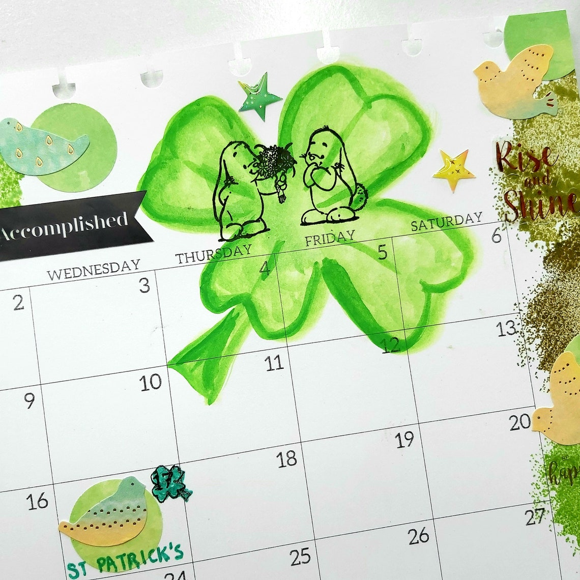 März 2021 monatlich druckbare St. Patricks Day Kleeblatt ...