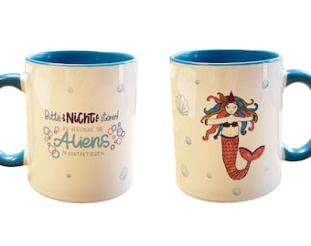 Ceramic cups with unicorn and saying