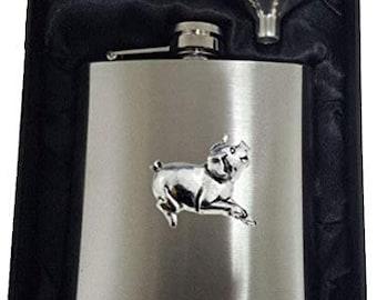 A39 Running Pig Pewter Emblem Kilt Pin ScarfBrooch 3 7.5 cm