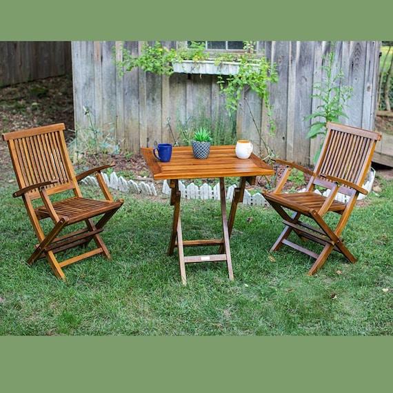 Teak Folding Set, Fully Assembled Arm Chair, Outdoor, Indoor, 2 Piece, The Millen
