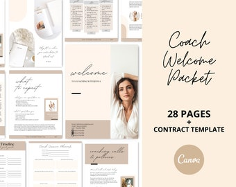 Editable Welcome Packet for Coaches   Client Onboarding   Coach Call Sheets   Coaching Contract