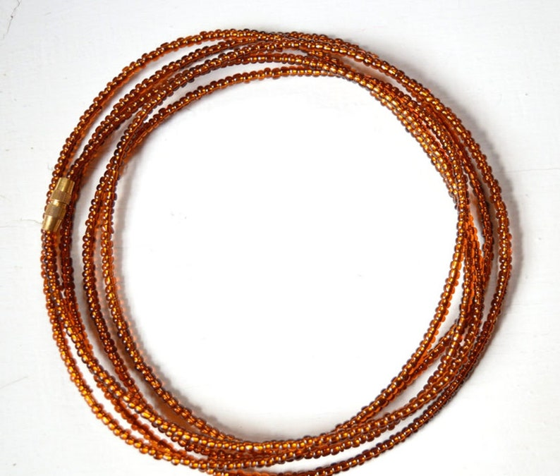 Brown Waist Beads Elastic Stretchable waist Beads Fits All Sizes