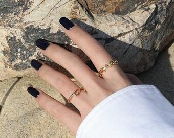Olive Branch Minimal Sterling Silver Ring