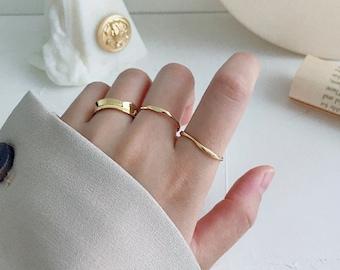 Miminal Irregular Stackable Ring