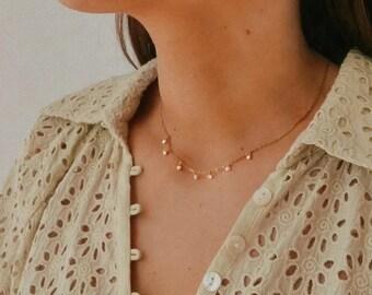 Minimal Freshwater Pearl Choker Necklace