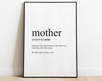 Mother definition perfect for mother's day gift