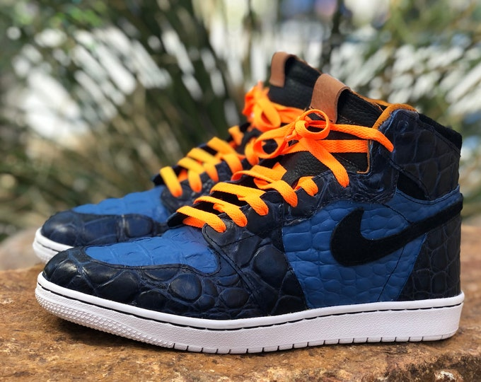 "Nike Air Jordan 1 High Custom Authentic ""Blue Crush"" sizes 7-13"