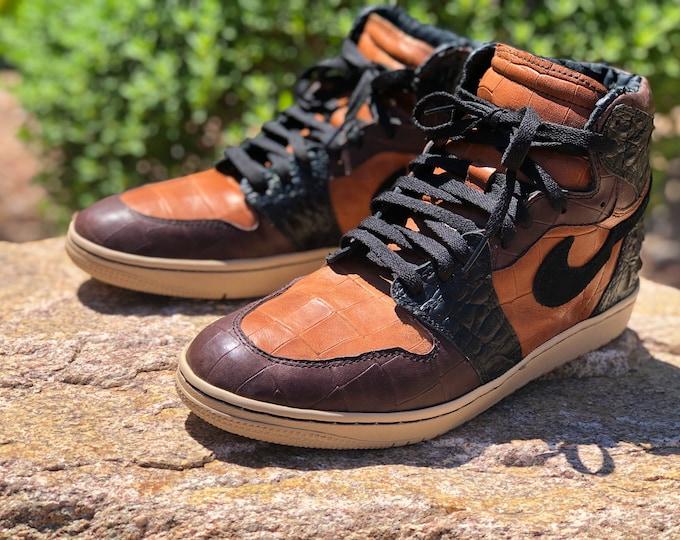 "Nike Air Jordan 1 High Custom Authentic ""Summer Brownies"" sizes 7-13"