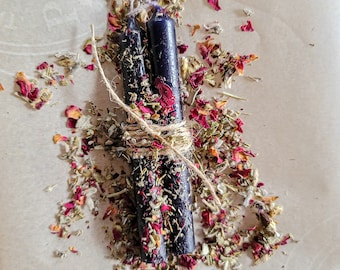 Protection Spell Candle - Anointed Altar Candle - Banishing, Binding, Shadow Work, Communing with the Dead - Ritual Tools - Candle Magick