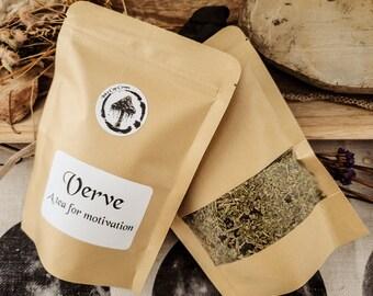 Verve Large Bag - Organic Tea for Energy, Motivation, and Concentration - Herbal Loose Leaf Tea
