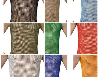 Payden Crystal Pendeen Mens Premium 100% Cotton Mesh Fishnet String Vest Mesh Marina