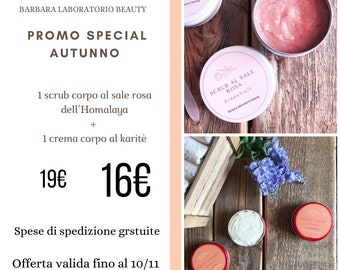 Autumn promotion: body scrub and shea cream