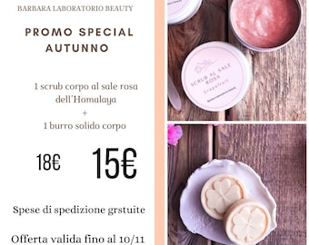 Autumn promotion: solid butter + scrub